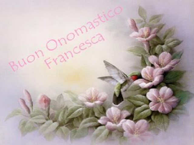 onomastico francesca