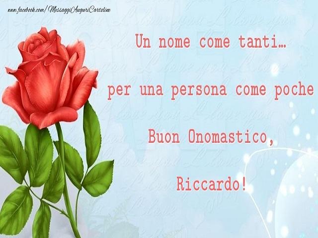 auguri onomastico Riccardo