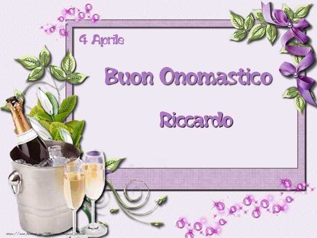 Buon onomastico Riccardo calici