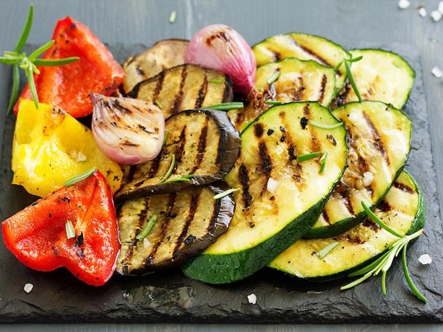 verdure alla griglia in gravidanza