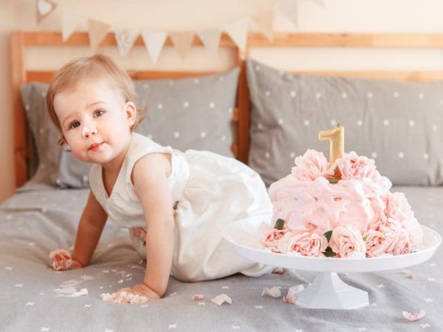 Auguri primo compleanno bambina