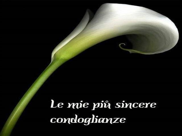 Condoglianze