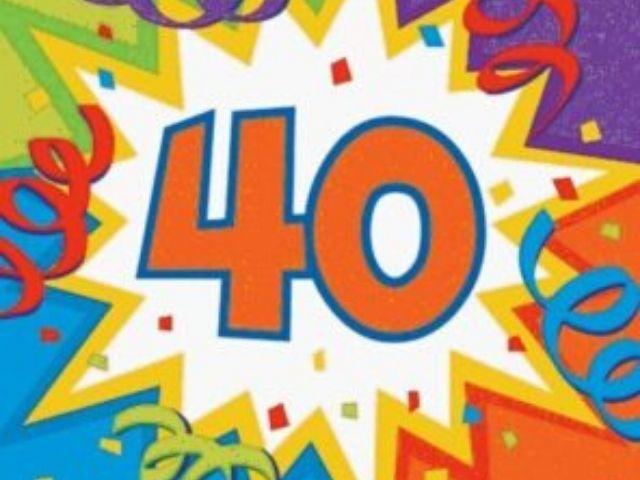 biglietto auguri 40 anni
