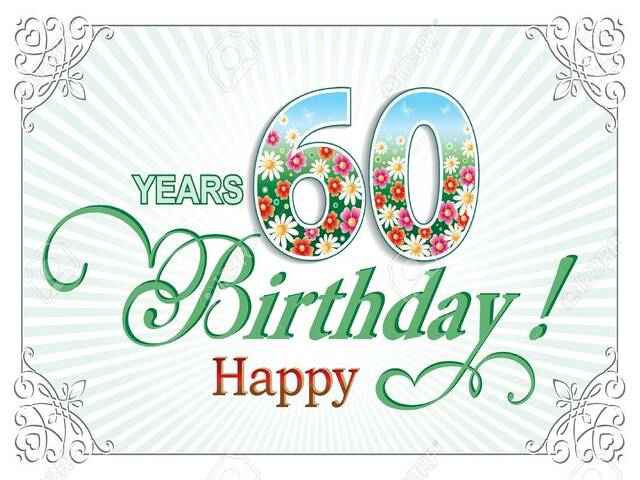 compleanno 60 anni immagini