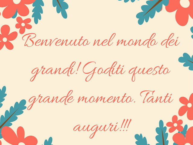 frasi 18 compleanno