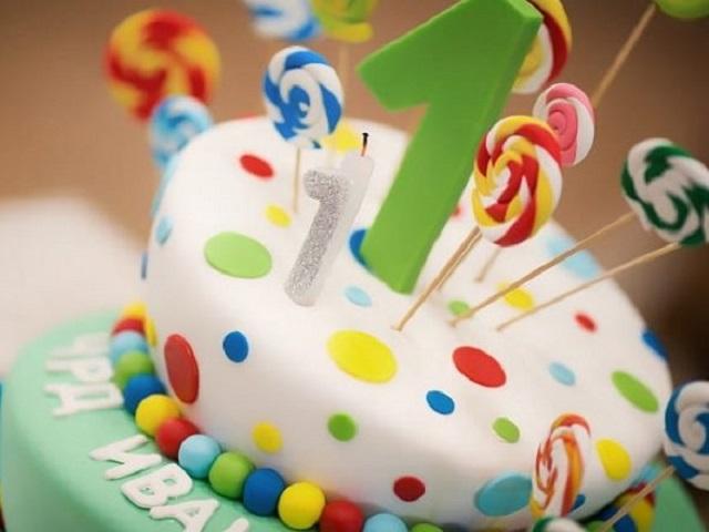 immagini torte primo compleanno bimba