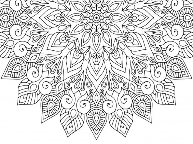 Disegni Da Colorare Grandi Gratis.Mandala Da Colorare 116 Disegni Da Stampare A Tutto Donna