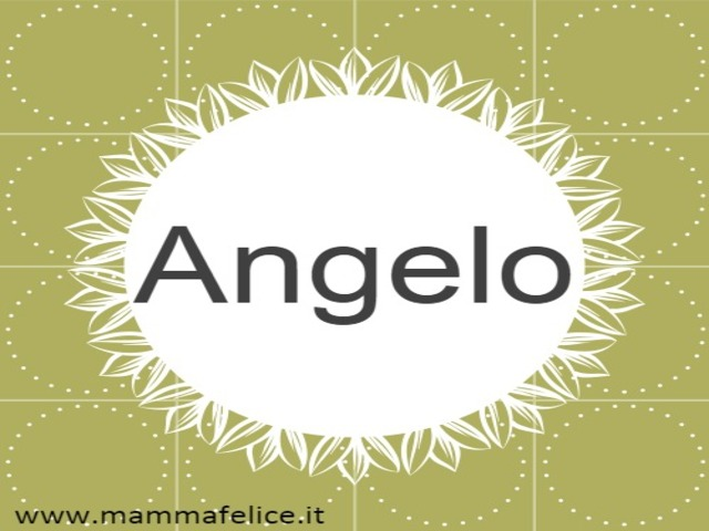 nome angelo