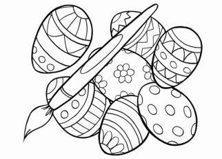 uova di pasqua disegni da colorare