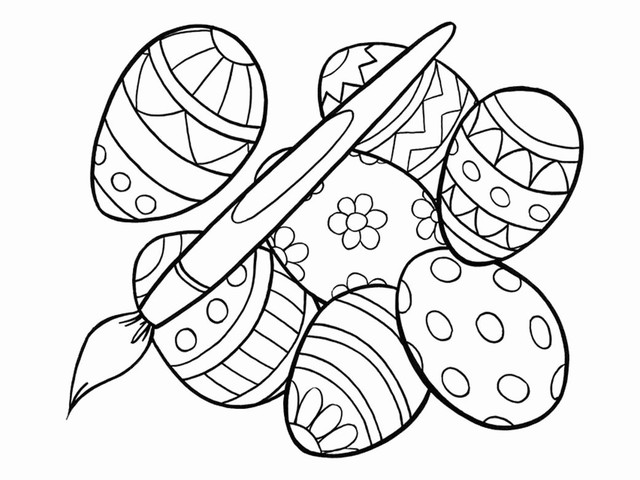 Disegni Da Colorare Grandi Gratis.Uova Di Pasqua 74 Disegni Da Stampare E Colorare A Tutto Donna