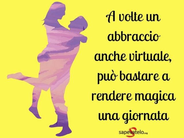 abbracci virtuali