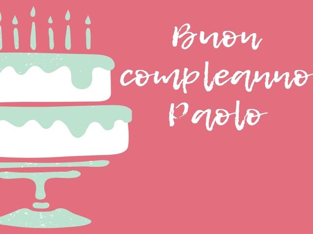 auguri compleanno paolo torta