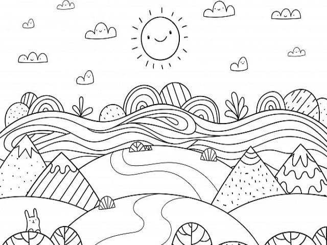 Immagini di paesaggi: 92 disegni da colorare A Tutto Donna