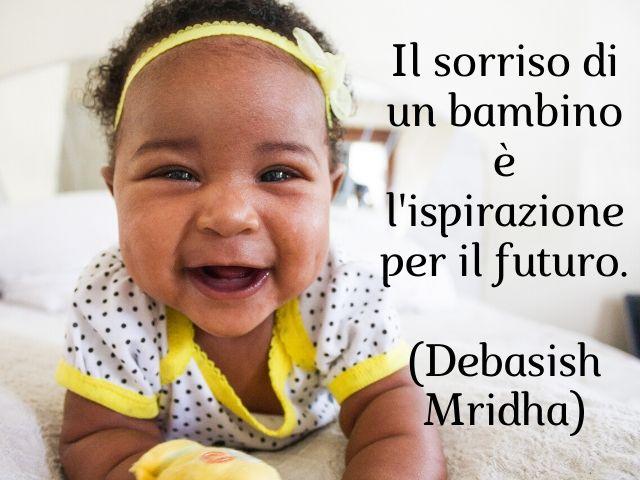 frasi sul sorriso di un bambino
