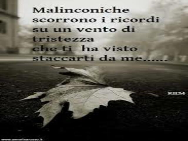 malinconia amore
