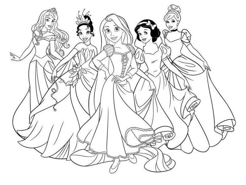 Immagini Principesse Da Colorare.Principesse Da Colorare 144 Immagini Delle Principesse Disney Da