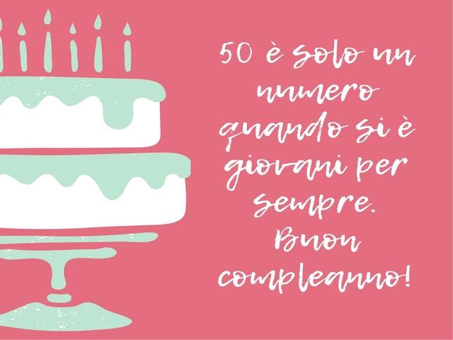 torta 50 anni auguri