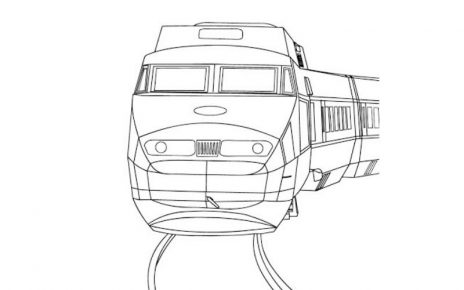 treni disegni colorare gratis