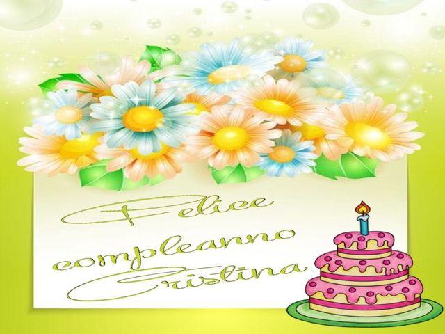 buon compleanno cristina