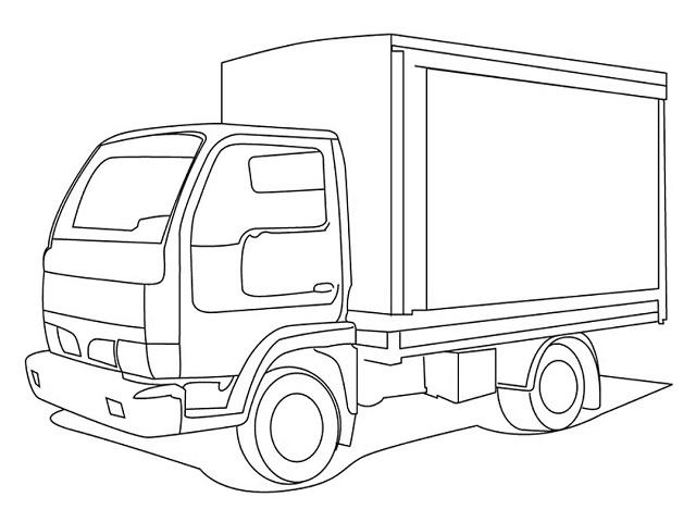 immagini di camion da colorare