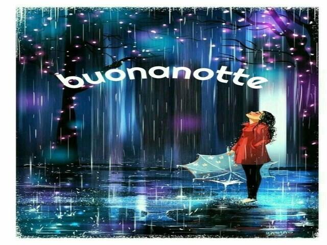pioggia buonanotte