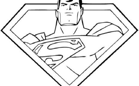 superman da colorare