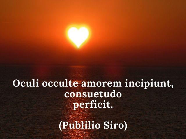 aforismi d amore in latino