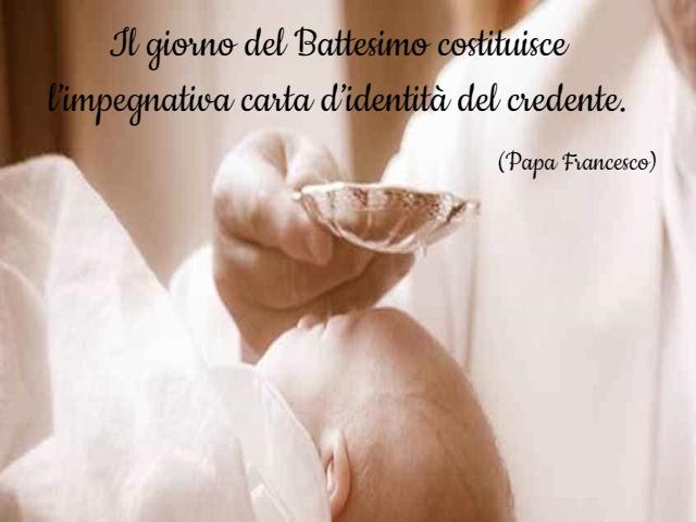 frase battesimo papa francesco