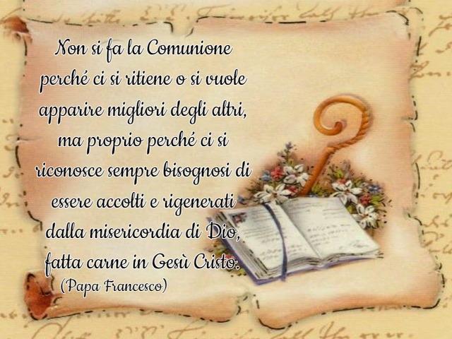 frasi celebri prima comunione papa francesco 1