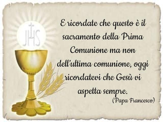 frasi celebri prima comunione papa francesco