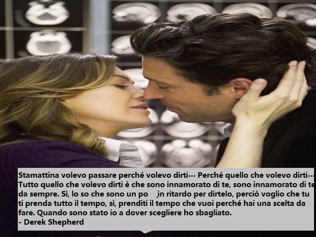 frasi d'amore grey's anatomy