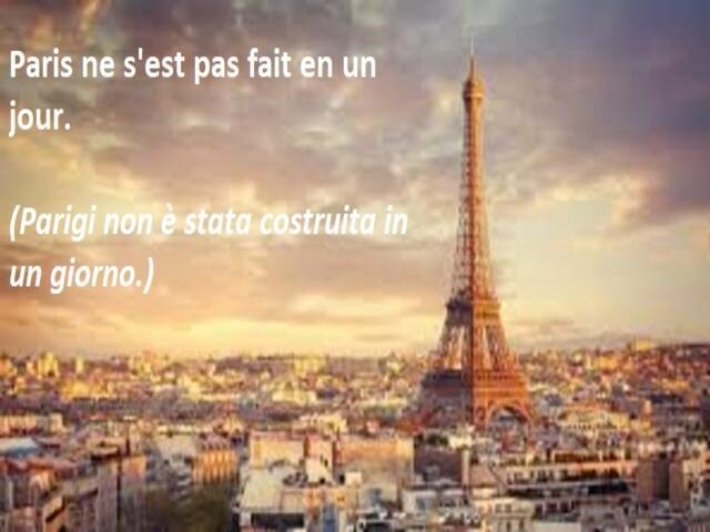 frasi su Parigi in francese