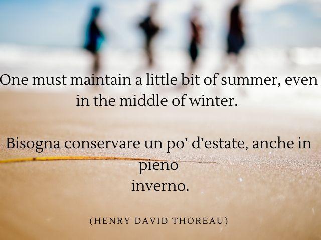 frasi sull estate in inglese