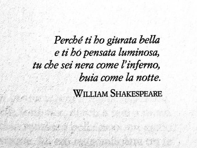 frasi william shakespeare amore