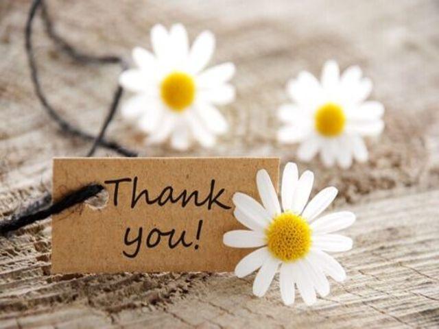 ringraziamento in inglese