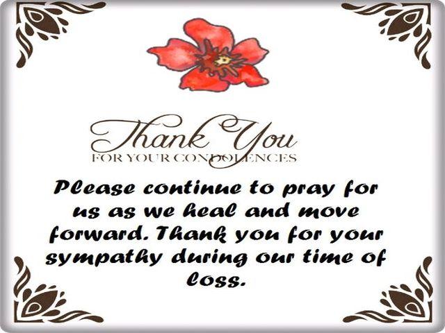 ringraziamento per lutto
