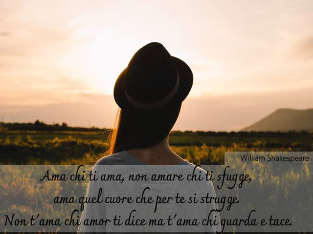 william shakespeare frasi d amore