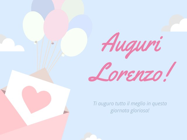 Auguri Lorenzo
