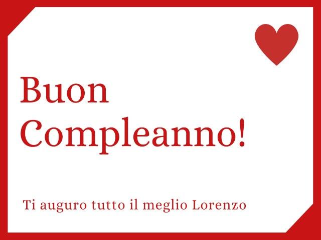 Tanti auguri Lorenzo