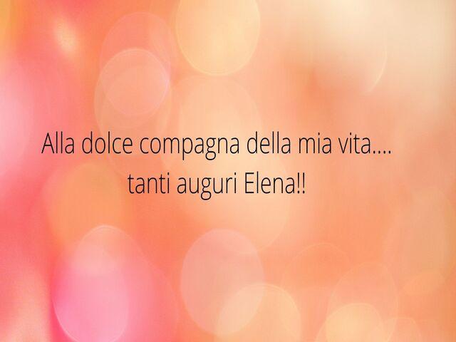 auguri frasi belle Elena