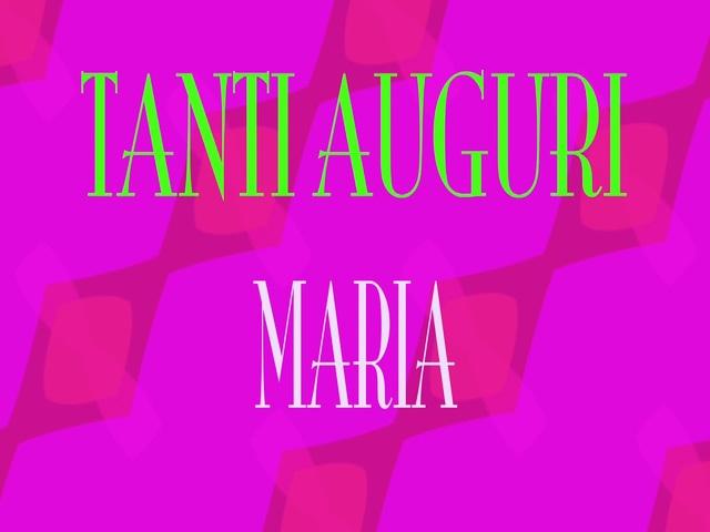 auguri di compleanno Maria