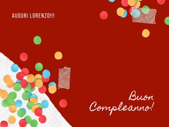 buon compleanno Lorenzo