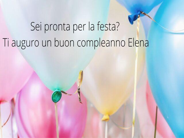 buon compleanno Elena