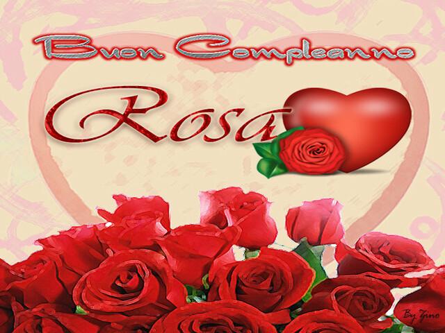 buon compleanno rosa immagini