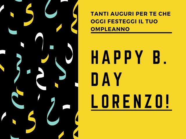 compleanno auguri Lorenzo