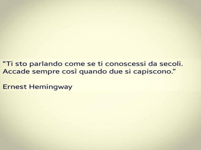 frasi amore hemingway