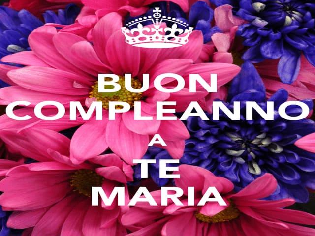 frasi compleanno Maria