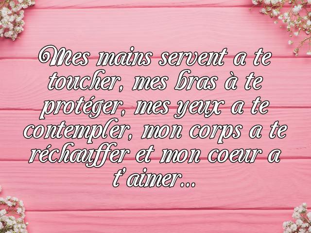 frasi dolci in francese