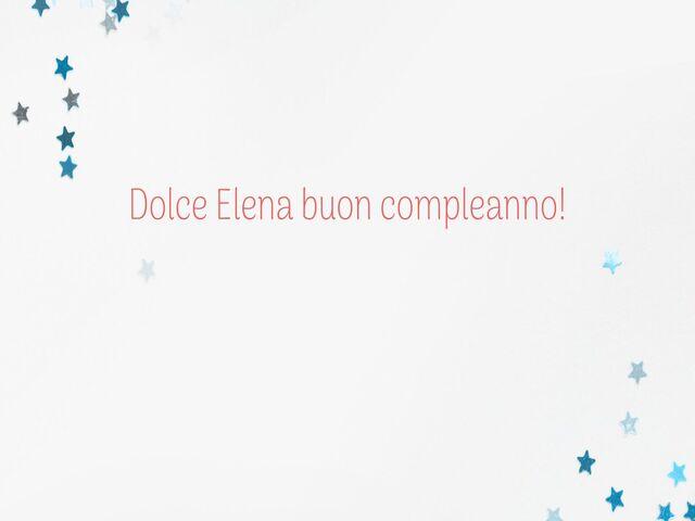 immagine compleanno Elena