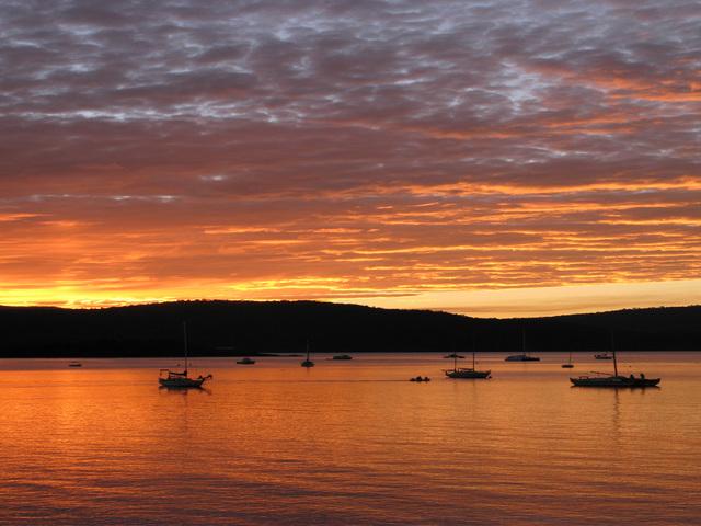 immagini mare al tramonto